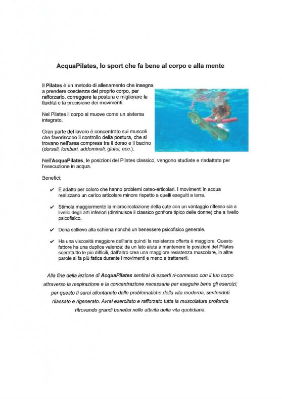 Benefici Acquapilates